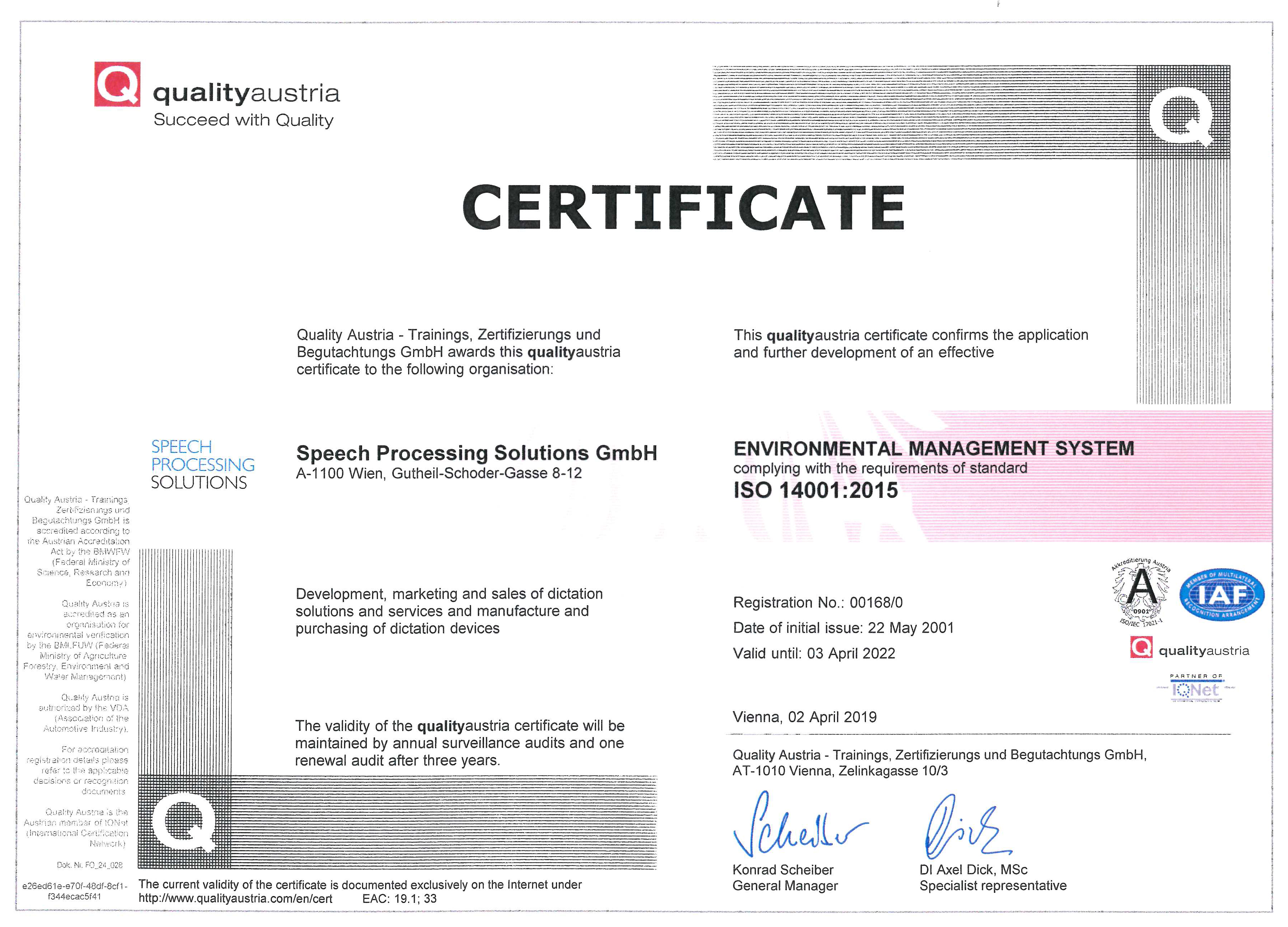 Quality Austria certificate_English